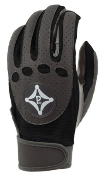 Black/Gray Grip-Tack Receiver Gloves: