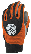 Orange/ Black Grip-Tack Receiver Gloves: