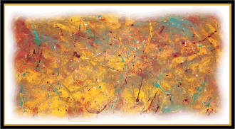 NO 244 (N32) ORIGINAL ABSTRACT PRINT 48X24""