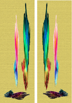 NO 260 (N201) ORIGIAL CANVAS PAIR 12X36 (2)