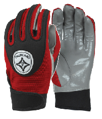 Cardinal Red Grip-Tack Receiver Gloves